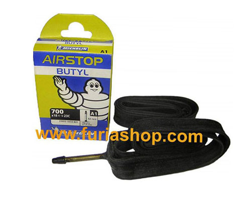 Camara para Triatlon y Ruta Michelin Air Stop 700X18 a 23C con 52mm